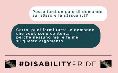 Sesso e disabilità: basta tabù